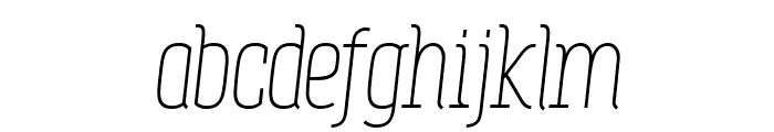 Zowieyo? Italic Font LOWERCASE