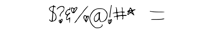 zoey_complete Font OTHER CHARS