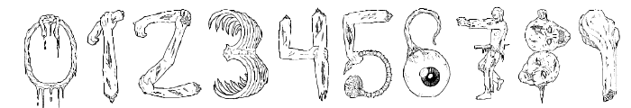 zombie party Font OTHER CHARS