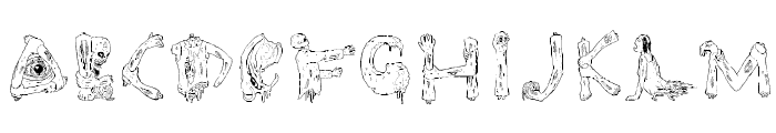zombie party Font UPPERCASE