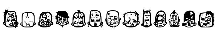 zombiz Font UPPERCASE