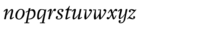 Zocalo Banner Regular Italic Font LOWERCASE