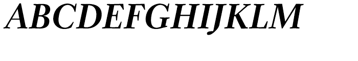 Zocalo Display Semibold Italic Font UPPERCASE