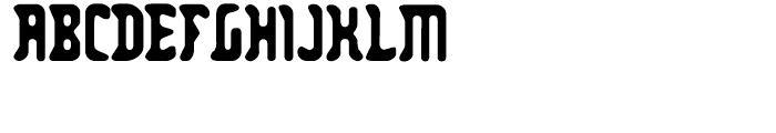 Zodillin Regular Font UPPERCASE