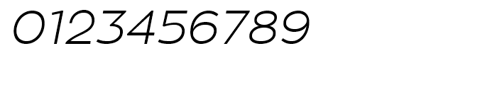 Zona Pro Light Italic Font OTHER CHARS