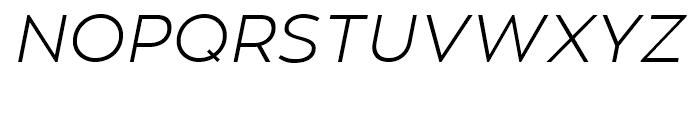 Zona Pro Light Italic Font UPPERCASE