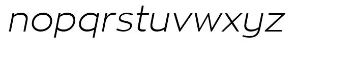 Zona Pro Light Italic Font LOWERCASE