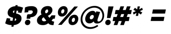 Zona Black Slab  Italic Font OTHER CHARS