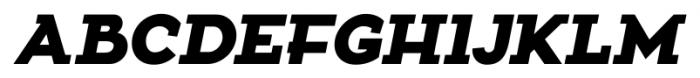 Zona Black Slab  Italic Font UPPERCASE