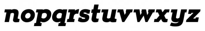 Zona Black Slab  Italic Font LOWERCASE