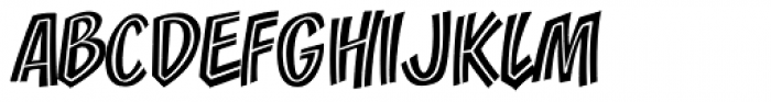 Zoinks Inline Font UPPERCASE