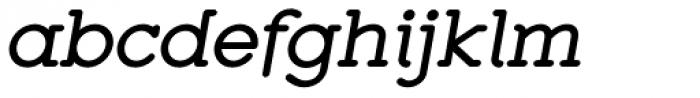 Zolano Serif BTN Bold Oblique Font LOWERCASE