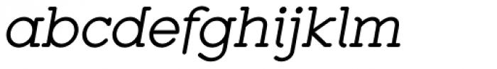 Zolano Serif BTN Oblique Font LOWERCASE