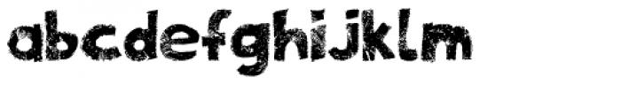 Zombie Apocalypse Font LOWERCASE