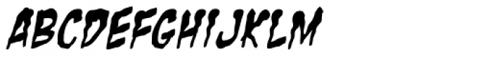 Zombie Guts Yanked Italic Font UPPERCASE
