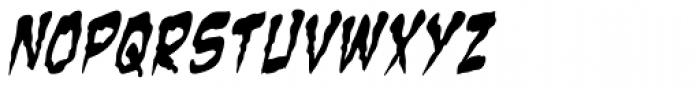 Zombie Guts Yanked Italic Font LOWERCASE