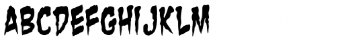Zombie Guts Yanked Font LOWERCASE