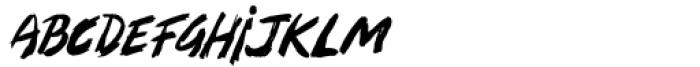 Zombie Punks Regular Font LOWERCASE