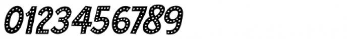 Zombie Starfish Dots Italic Font OTHER CHARS