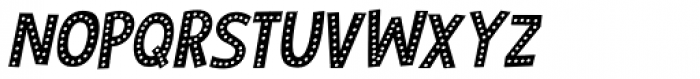Zombie Starfish Dots Italic Font UPPERCASE