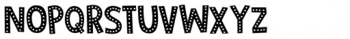 Zombie Starfish Dots Regular Font UPPERCASE