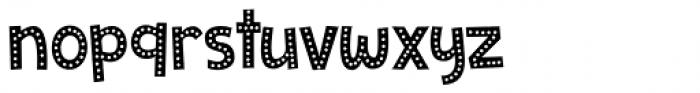 Zombie Starfish Dots Regular Font LOWERCASE