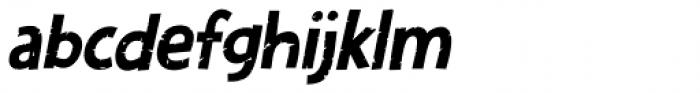 Zombie Starfish Eroded Italic Font LOWERCASE