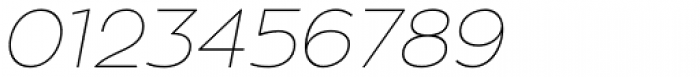 Zona Pro Hairline Italic Font OTHER CHARS