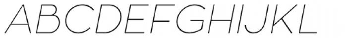 Zona Pro Hairline Italic Font UPPERCASE