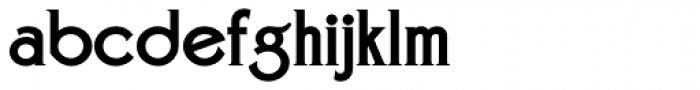 Zone Common ExtraBold Font LOWERCASE