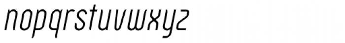 Zoo 300 Light Italic Font LOWERCASE