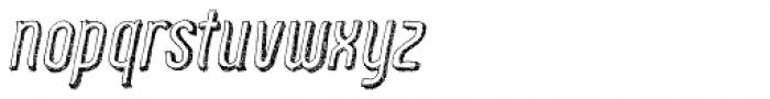 Zoo 300 Sketch Shadow Italic Font LOWERCASE