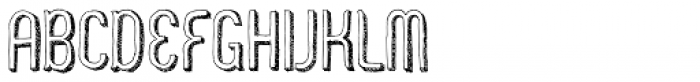 Zoo 300 Sketch Shadow Font UPPERCASE