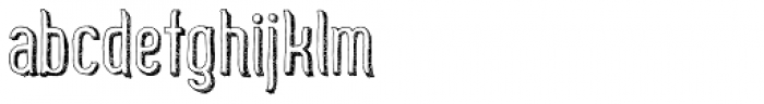 Zoo 300 Sketch Shadow Font LOWERCASE