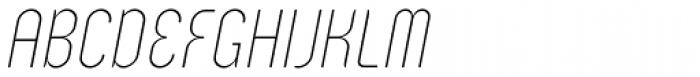 Zoo 300 Thin Italic Font UPPERCASE