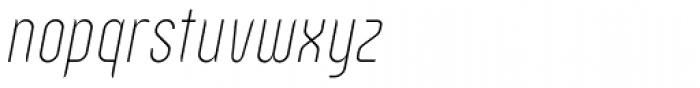 Zoo 300 Thin Italic Font LOWERCASE