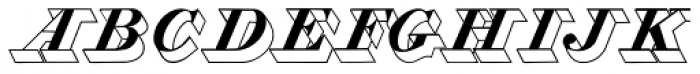 Zooth Extruded Font UPPERCASE