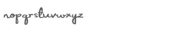 zp carolina script expanded Font LOWERCASE