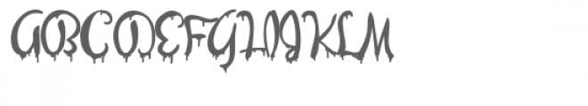 zp evil olivia Font UPPERCASE