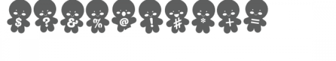 zp gingerbread stencil Font OTHER CHARS