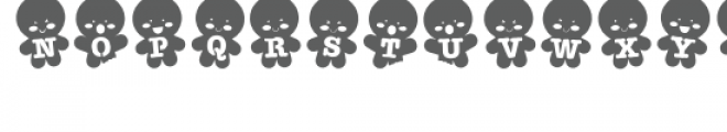 zp gingerbread stencil Font UPPERCASE