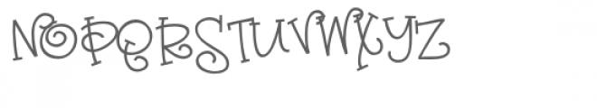 zp sassy nose Font UPPERCASE