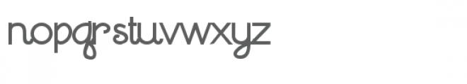 zp waltzing matilda script bold Font LOWERCASE