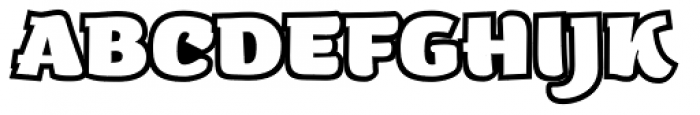 ZT Arturo Heavy Outline Font UPPERCASE