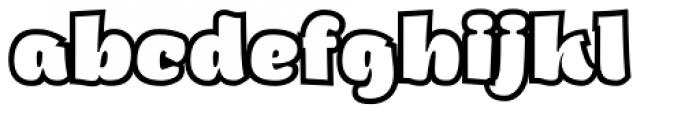 ZT Arturo Heavy Outline Font LOWERCASE