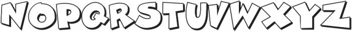 Zubilo Shadow otf (400) Font UPPERCASE