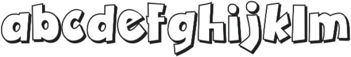 Zubilo Shadow otf (400) Font LOWERCASE