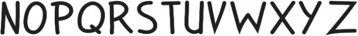 Zuey Handwriting otf (400) Font UPPERCASE