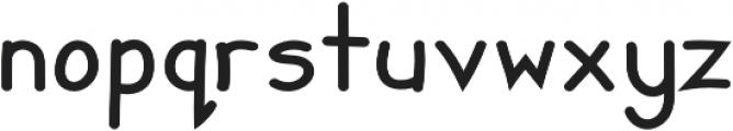Zuey Handwriting otf (400) Font LOWERCASE