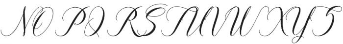 Zuraida otf (400) Font UPPERCASE